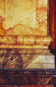 St. Joseph Seitenaltar Zustand nach der Restaurierung.