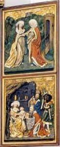Restaurierung des rechten Altarflügels