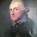 """Das Gemälde """"Der alte Fritz"""" Zustand vor der Restaurierung"""